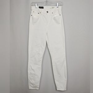 J Crew White High Rise Lookout Crop Jeans Sz 28T